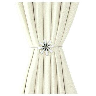 磁鐵式窗簾束帶FLOWER2 WH