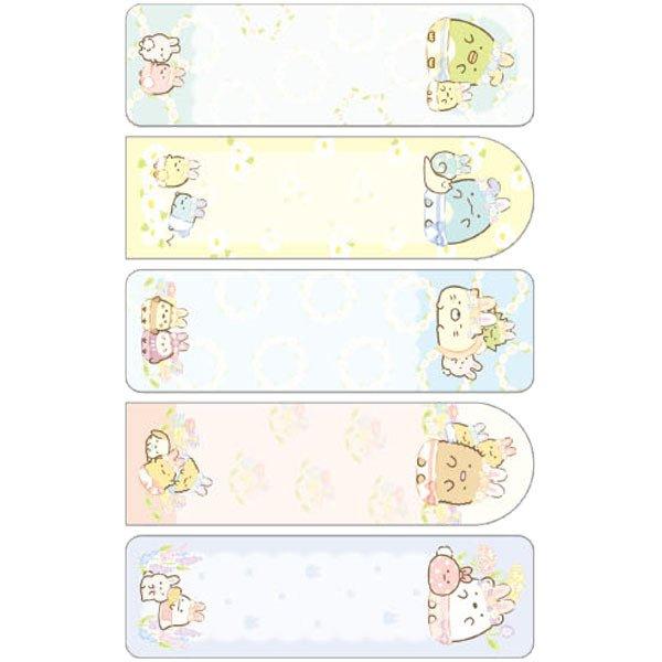 日本製 索引便利貼 角落生物 角落小夥伴 仿兔花圈 藍 備忘錄 記事 便利貼 便條紙 自黏便籤 文具 真愛日本