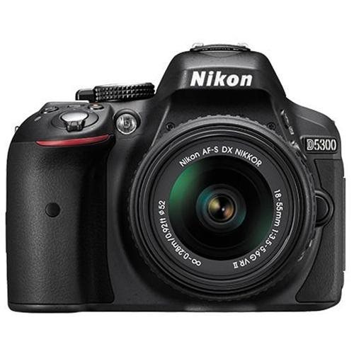 "Nikon D5300 24.2 Megapixel Digital SLR Camera with Lens - 18 mm - 55 mm - Gray - 3.2"" LCD - 16:9 - 3.1x Optical Zoom - Optical (IS) - 6000 x 4000 Image - 1920 x 1080 Video - HDMI - PictBridge - HD Movie Mode - Wireless LAN - GPS b08f7e5f31162578135101ac7"