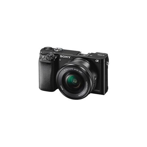 "Sony alpha a6000 24.3 Megapixel Mirrorless Camera with Lens - 16 mm - 50 mm - Black - 3"" LCD - 16:9 - 3x Optical Zoom - 4x - 6000 x 4000 Image - 1920 x 1080 Video - HDMI - HD Movie Mode - Wireless LAN International Version 1"