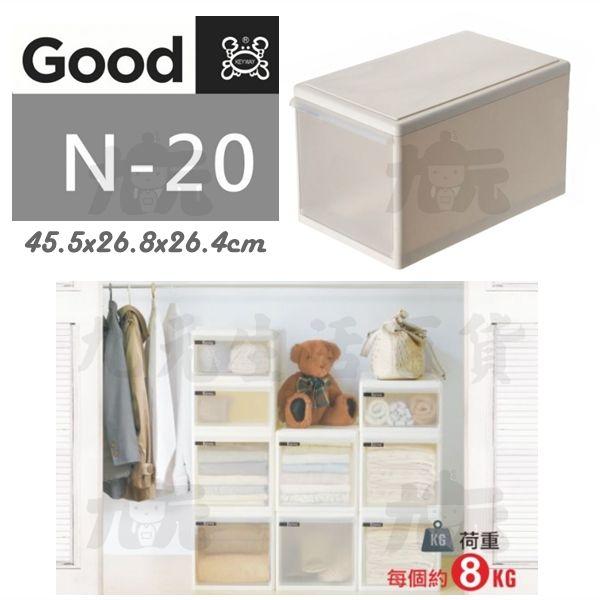 【九元生活百貨】聯府N-20Good整理箱20L收納箱N20