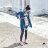 【mini maru.a】童裝親子裝彩色方塊印花長版牛仔襯衫(2色)7953211 0