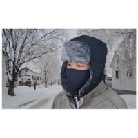 Unisex Winter Trooper Hat with Earlaps and Chin Strap