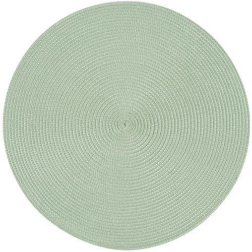 《NOW》素面織紋圓餐墊(嫩綠)