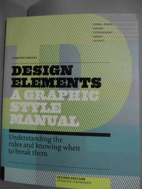 ~書寶 書T1/ _YBP~Design Elements~A Graphic style