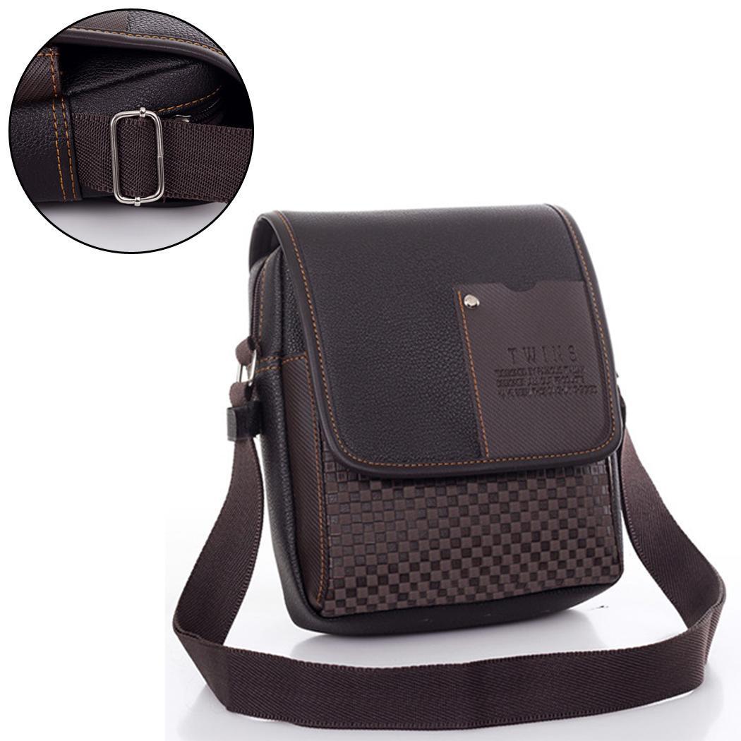 Men's Synthetic Leather Handbag Messenger Briefcase 0