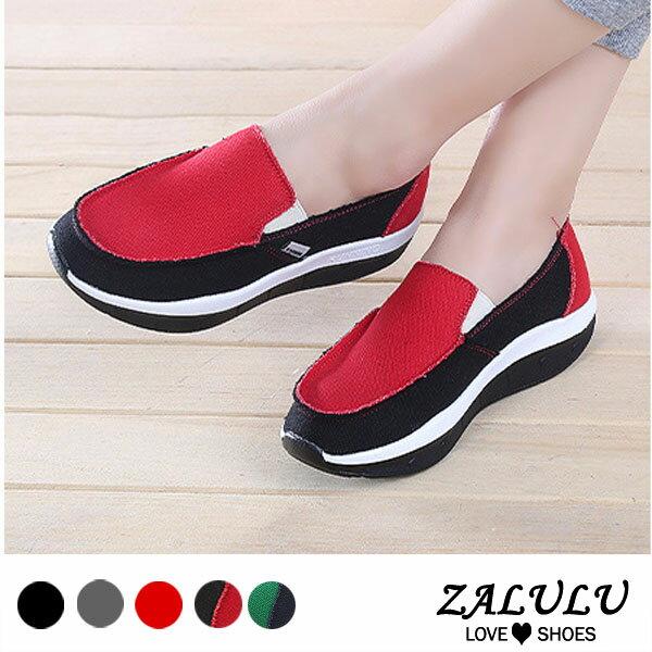 ZALULU愛鞋館BD270預購呵護雙腳款配色帆布舒適休閒搖搖鞋-5色-36-42