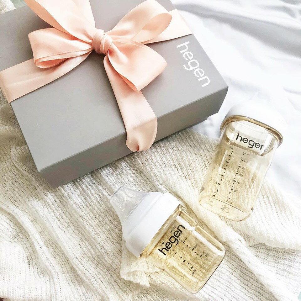 贈原廠紙袋【Hegen】祝賀新生經典奶瓶安心禮 新生禮盒 小金奶瓶-米菲寶貝 3