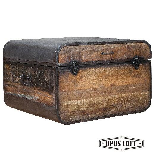復古LOFT工業風 環保木箱型 咖啡桌