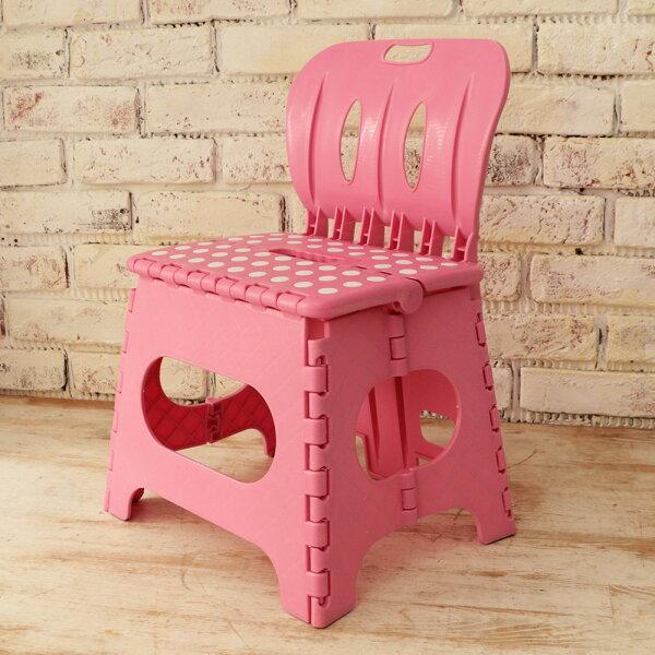 樂生活 麗緻專利折疊椅露營椅(粉紅)(MV0027P)
