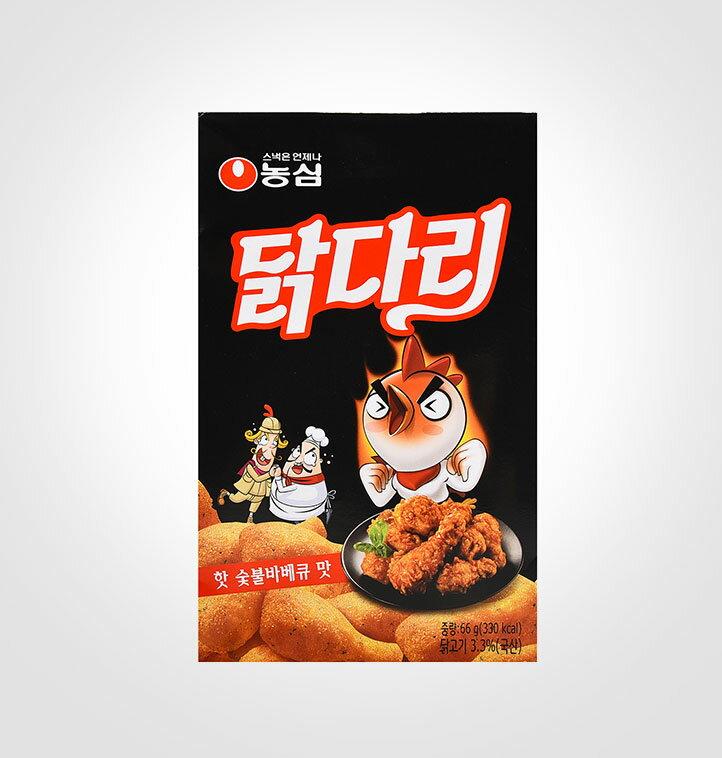 農心 棒棒腿造型餅乾(辣炭燒BBQ口味) 66g