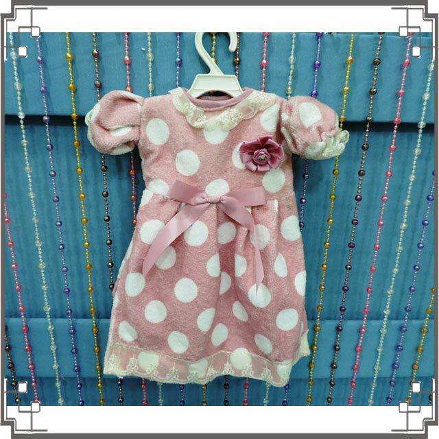 ↙ ↘小洋裝擦手巾~Q4~1~粉紫色點點洋裝 擦手巾 小圓點擦手巾 含衣架◤彩虹森林◥