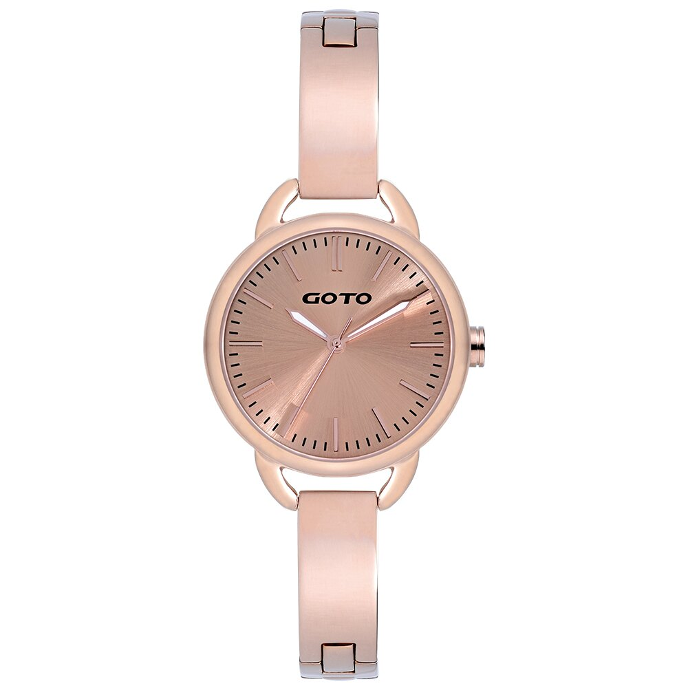 【易奇網】GOTO Sugar Lady 時尚腕錶-IP玫瑰金錶殼x高雅首飾錶帶x玫瑰金面板/32mm
