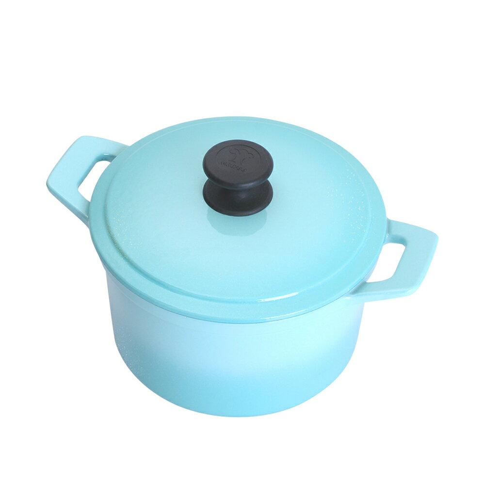 Multee摩堤 20cm圓形鑄鐵鍋 容量3L 適合3~4人 湯鍋 燉鍋