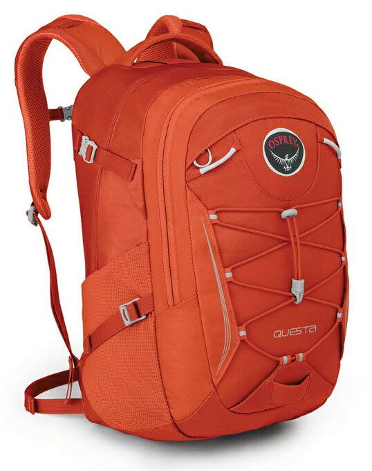 Osprey |美國|  QUESTA 27 電腦背包《女款》/15吋筆電背包 城市背包 旅行背包-冰糖橙 /Questa27 【容量27L】