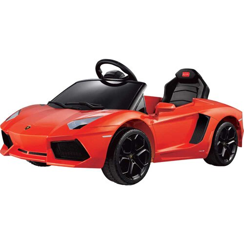 【奇買親子購物網】81700藍寶堅尼 LP700-4 電動車 (橙紅/珠光白/珠光黃)