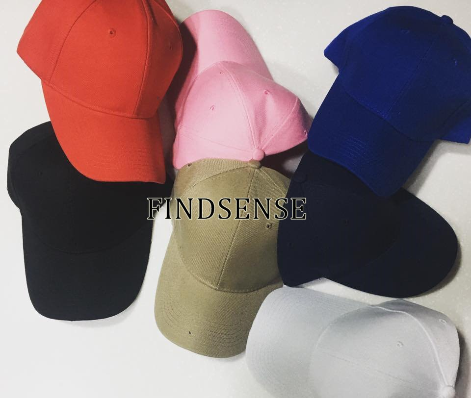 FINDSENSE版帽子 鴨舌帽 棒球帽 版帽 帽夾 復古帽子 卡其 白帽 粉帽 超挺 帽子 非NIKE 愛迪達
