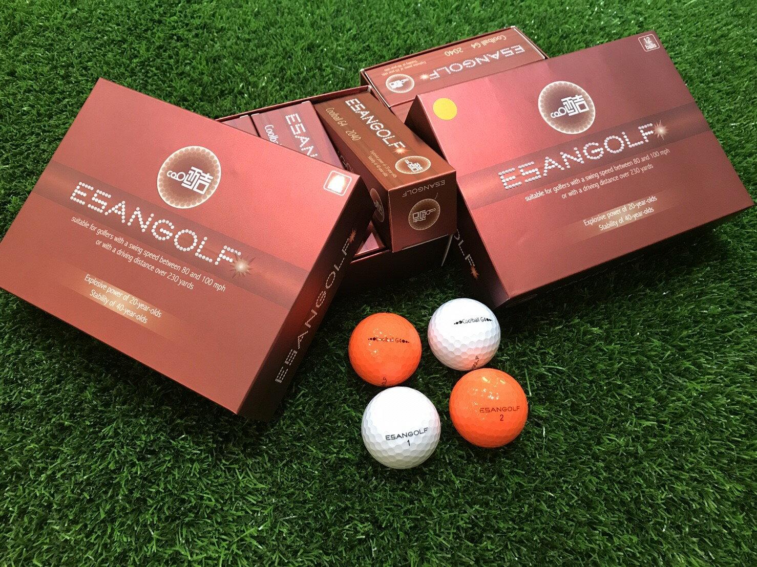 Coolball G4 2040 高爾夫球 ( 一盒裝12入 ) 白色、橘色