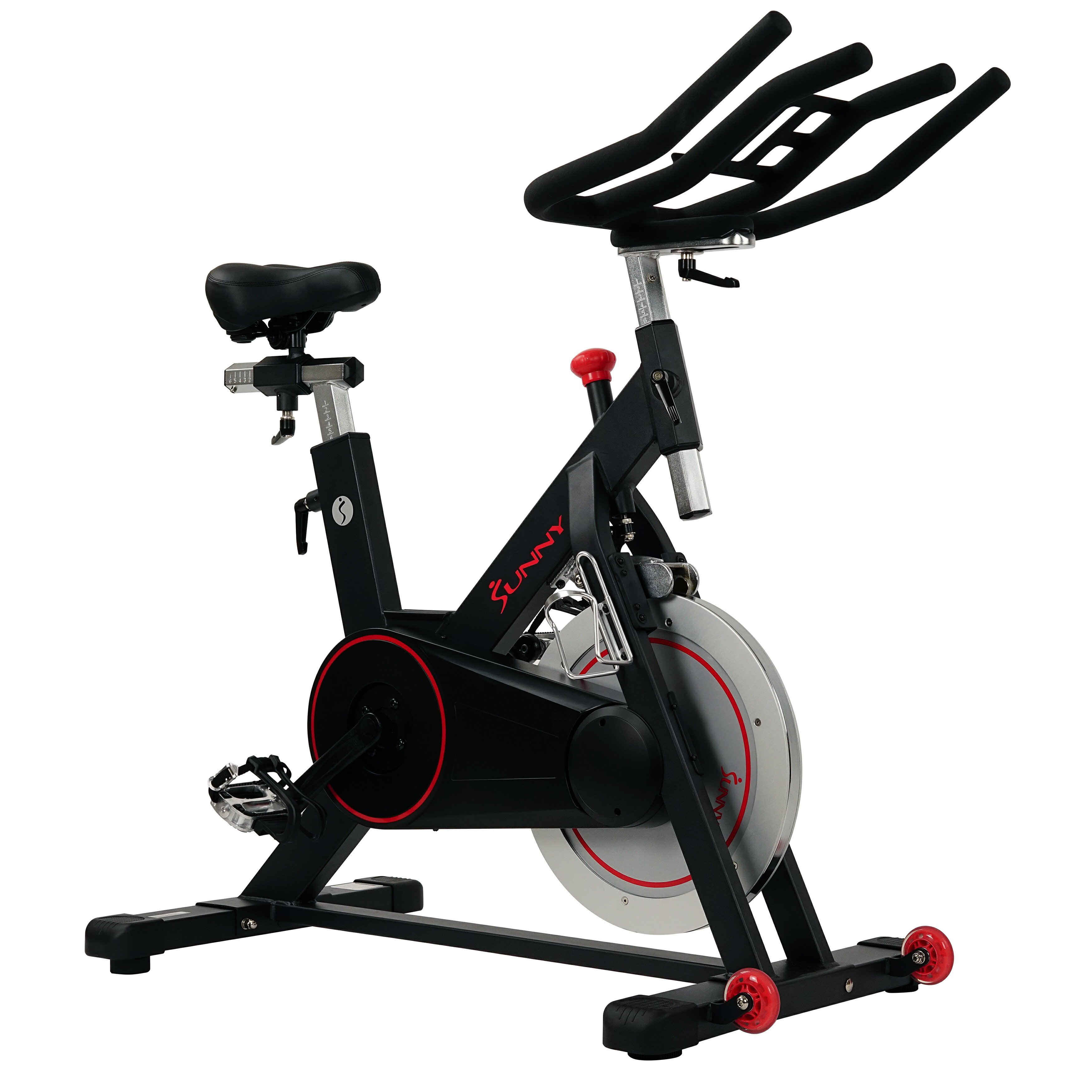 e962f91eb56 Sunny Health   Fitness Magnetic Belt Drive Indoor Cycling Bike with High  Weight Capacity and Tablet