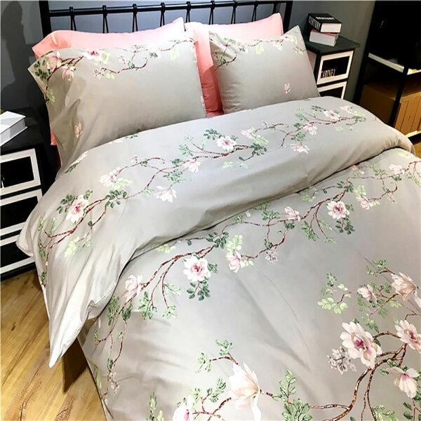 潘朵拉綠色生活概念館:挪威森林100%精梳純棉四件式雙人床包被套組塞納河的仲夏