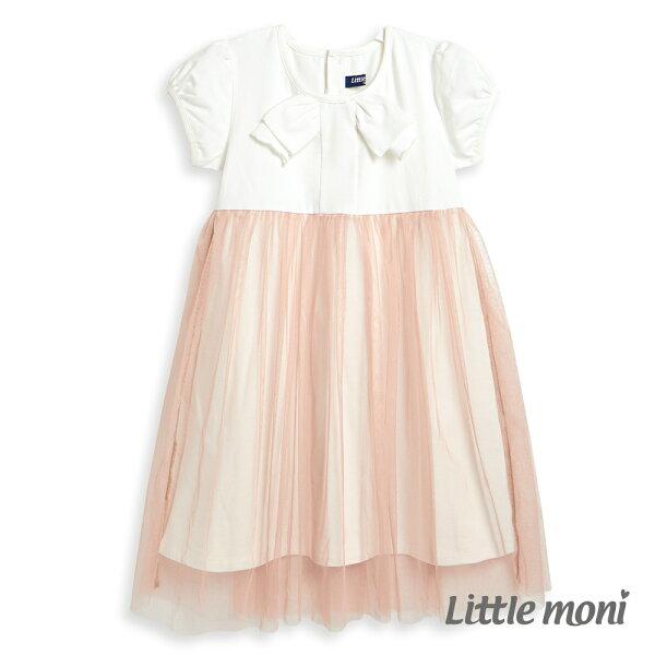 Littlemoni蝴蝶結紗裙洋裝-象牙白