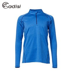 ADISI 男半門襟彈性刷毛保暖衣AL1621136 (S~2XL) / 城市綠洲專賣(吸濕排汗、舒適透氣、輕量柔軟、戶外休閒)