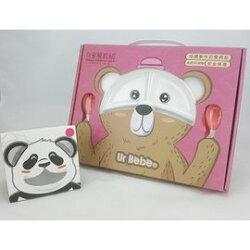 【淘氣寶寶】台灣 優貝 Ur BeBe 多功能幼童學習餐具組(粉色)【用糖作的餐具】