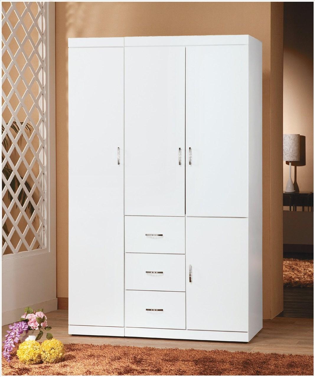 【石川家居】EF-140-5 立芬純白4*7尺衣櫥 (不含其他商品) 需搭配車趟