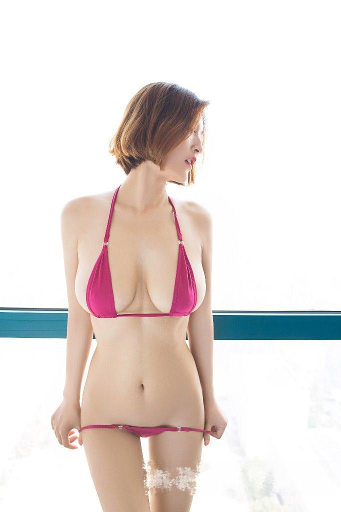 日本AV款誘惑捆綁狂野三點式兩件套透明薄紗迷你丁字泳裝比基尼死庫水情趣內衣 多色 B6120