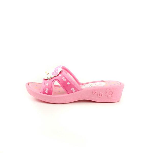 Hello Kitty 凱蒂貓 涼鞋 拖鞋 童鞋 粉紅色 中童 818124 no763 4