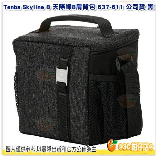 含隔板TenbaSkyline8天際線8肩背包637-611公司貨黑相機包單肩側背包手提
