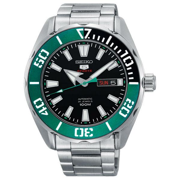 Seiko精工錶4R36-06S0M(SRPC53J1)自由徜徉5號機械腕錶腕錶銀*黑面46mm