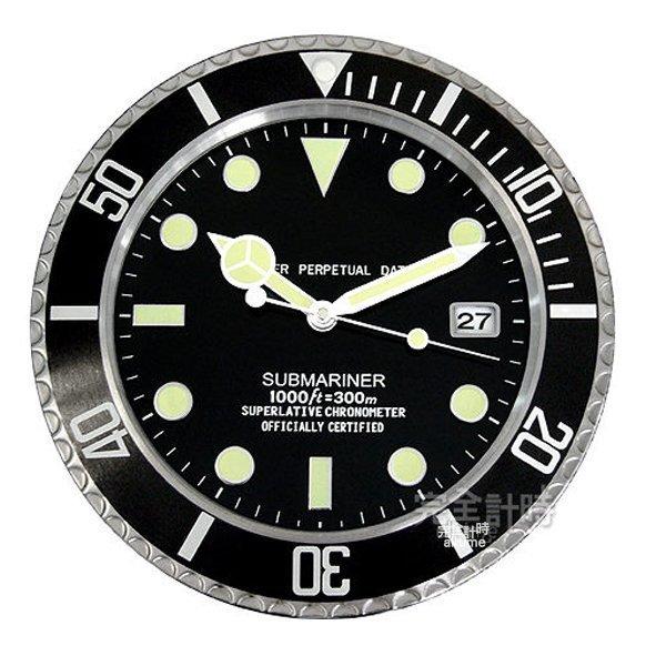 完全計時手錶館│SUBMARINER 獨家典藏 簡約經典名品豪式設計 水鬼掛鐘時鐘壁鐘 現貨 黑水鬼 經典