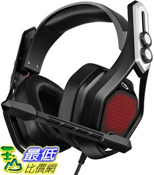 [8美國直購] 耳機 Mpow Iron Gaming Headset (Flagship Model), 7.1 Surround Sound with 50mm Chamber Drivers, Magic EQ Setting