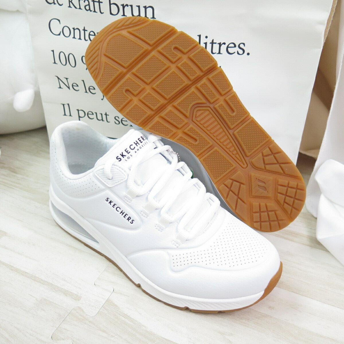 【滿額領券折$150】Skechers UNO-AIR AROUND YON 女款 運動休閒鞋 155543WHT 白【iSport愛運動】