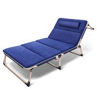折疊床躺椅辦公室陽臺 單人加寬 深藍
