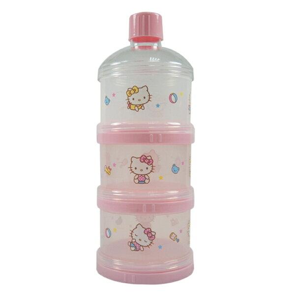 HelloKity凱蒂貓三層保潔蓋奶粉盒【飛炫寶寶】
