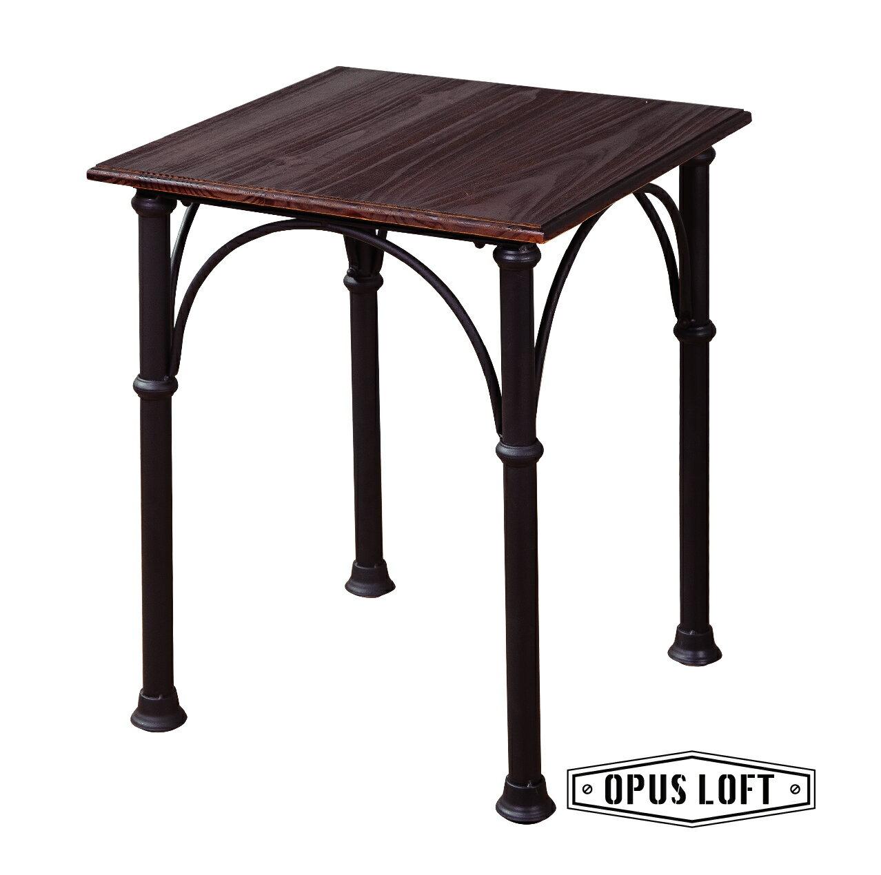 復古工業風小型鐵管原木餐桌