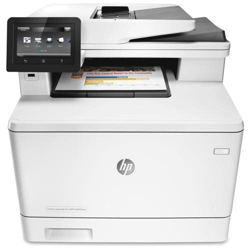 HP LaserJet Pro M477fnw Laser Multifunction Printer - Plain Paper Print 0