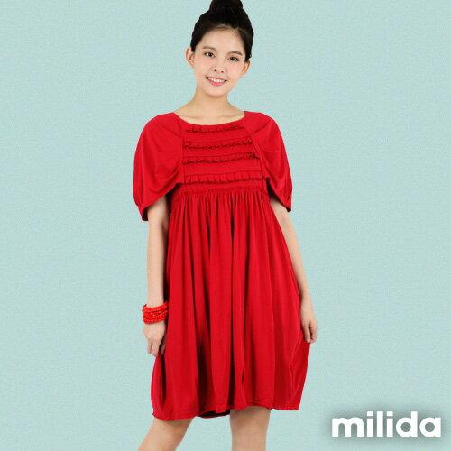 【Milida,全店七折免運】-春夏商品-甜美款-公主袖洋裝 3
