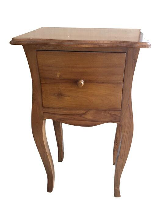 【尚品傢俱】640-45 柚木法式一抽花架/花架/置物櫃/Locker