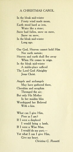 EAN 7437644317301 product image for In the Bleak Midwinter Christmas in Poetry 1922 Poster Print by Christina x-Ross | upcitemdb.com