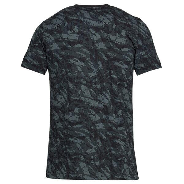 《UA出清69折》Shoestw【1305671-001】UNDER ARMOUR UA服飾 Sportstyle 短袖 T恤 能量棉 水彩刷紋 黑灰 男生 3