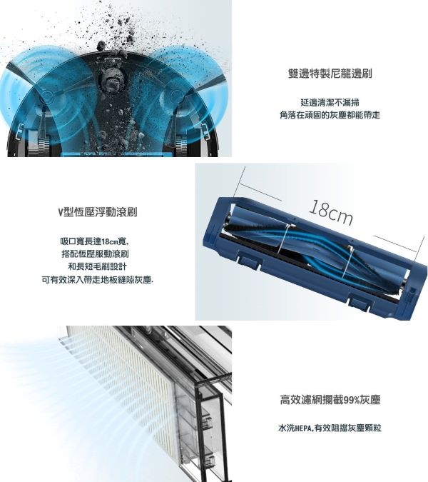 【Proscenic】台灣浦桑尼克 820S 超薄款 3合1智能掃地機器人 歐美版 僅付英文說明書 3
