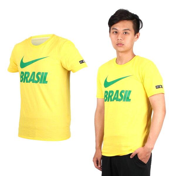 NIKE男短袖上衣(巴西隊)(世界盃BRAZILCBF足球短TT恤【03312821】≡排汗專家≡