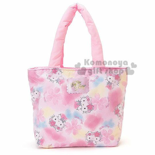 〔小禮堂〕Hello Kitty 側肩空氣包《粉.櫻花滿版》春漫櫻花系列