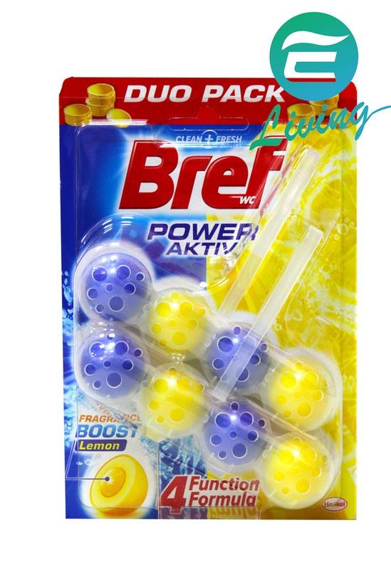 Bref 馬桶強力清潔芳香球 二入 (檸檬香) #56832