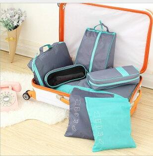 ♚MYCOLOR♚韓版旅行商務收納包七件組分類衣服包中包旅行收納整理袋收納箱旅行袋【Y28】