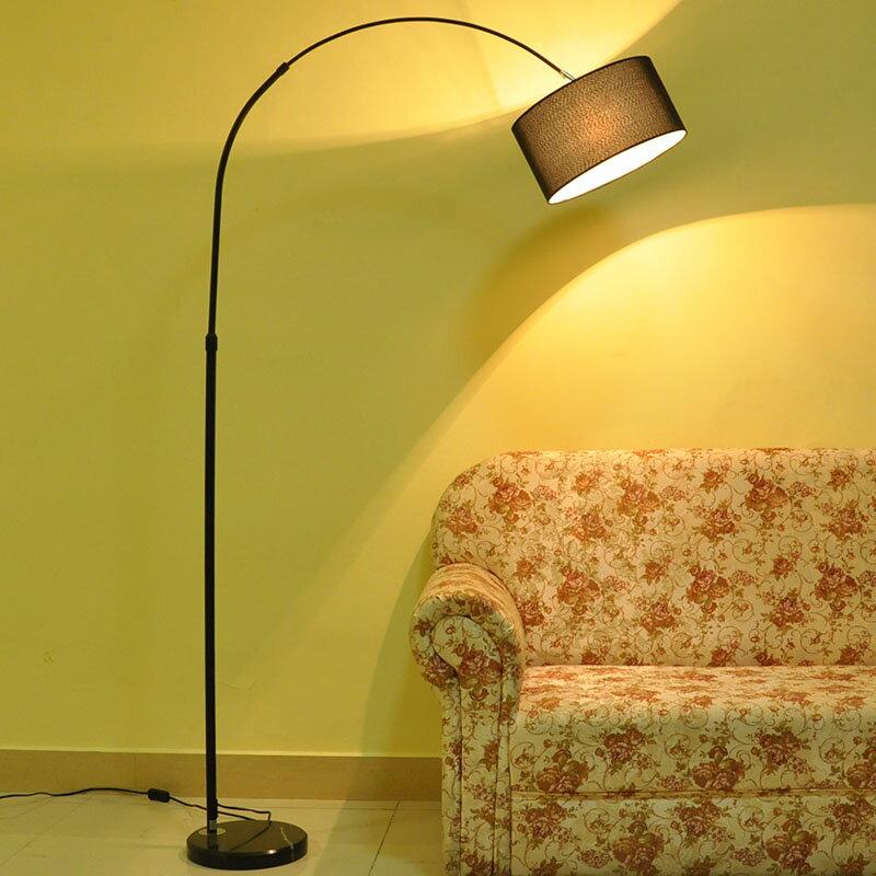 限時75折 立灯 落地燈釣魚台燈LED北歐遙控客廳臥室房簡約網紅創意輕奢立燈ins風T『全館免運 領取下標更優惠』