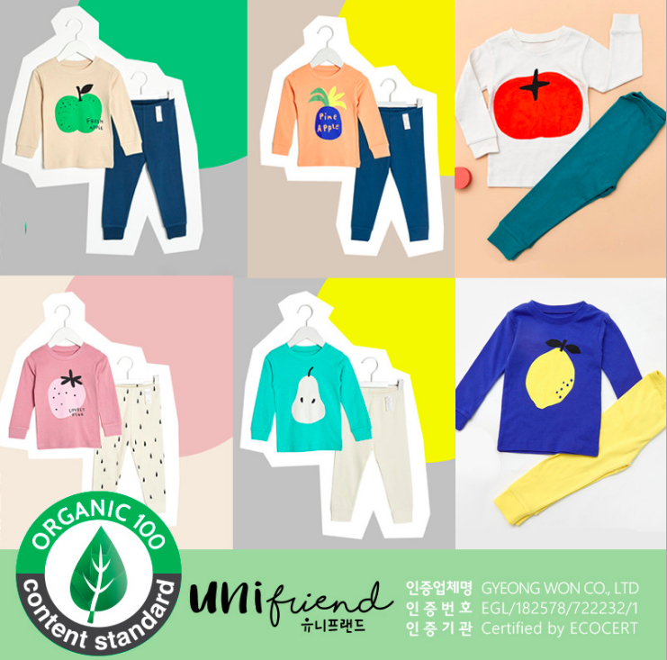 unifriend2019秋冬新款韓國居家服 有機純棉 共六色